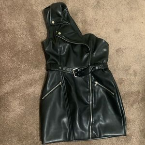 Leather motor Dress